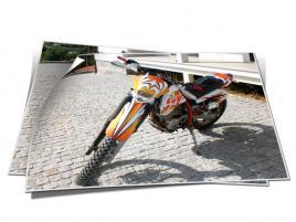Decoração Total de moto em vinil cast com laminação liquida para proteção UV e maior destaque das cores.