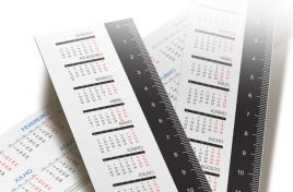 Réguas personalizadas com calendário de 2016