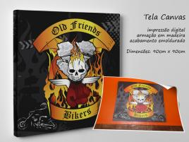 TELA ARTÍSTICA CANVAS --(BIKERS)--