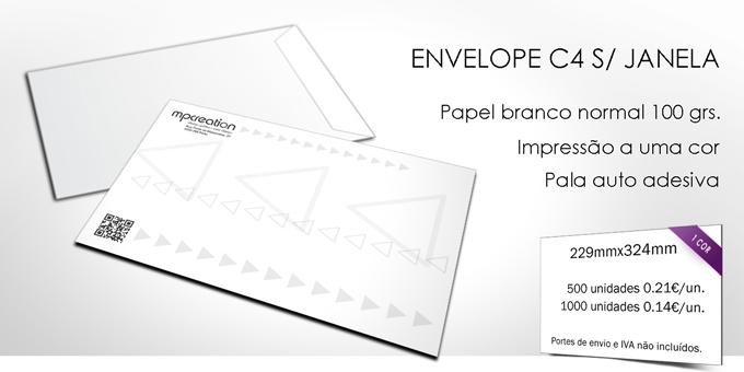 Envelopes personalizados  - C4 Unicolor