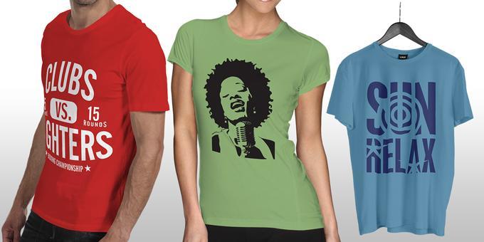 T-Shirts de cor personalizadas c/ vinil Flex