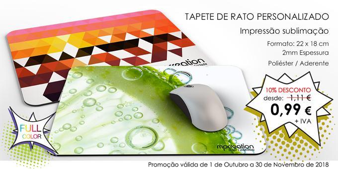 PROMO - Tapete de Rato Personalizado 2mm